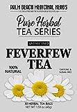 Feverfew Tea - Pure Herbal Tea Series by Palm Beach Medicinal Herbs (30 Tea Bags) 100% Natural
