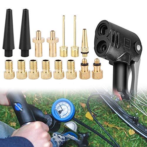 SALUTUYA Convertidor de válvula de Bicicleta Bomba de Bicicleta Válvula de Aire Cobre Accesorio Universal para Bicicleta, Apto para la mayoría de Las Bicicletas