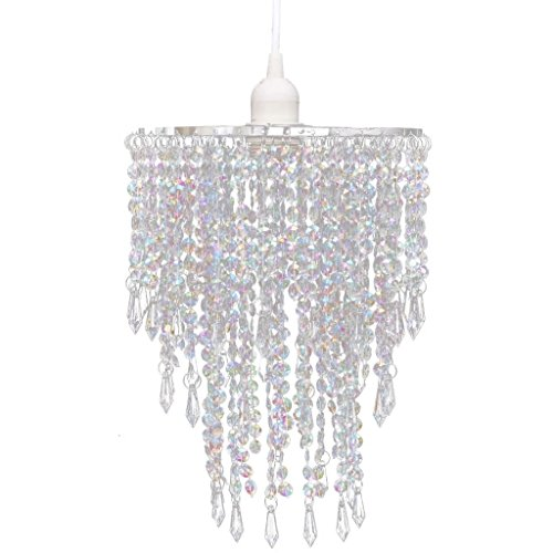 Tidyard Kristall Kronleuchter Anhänger Kronlampe Kronlampe Anhängerlampe Mit Lampensockel und das Kabel,Frequenz: 50/60 Hz,Spannung: 220-240 V,Diverse Farben Größen