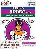 NOH Foods of Hawaii Filipino Adobo Seasoning Mix, 3 Pound (Pack of 5)