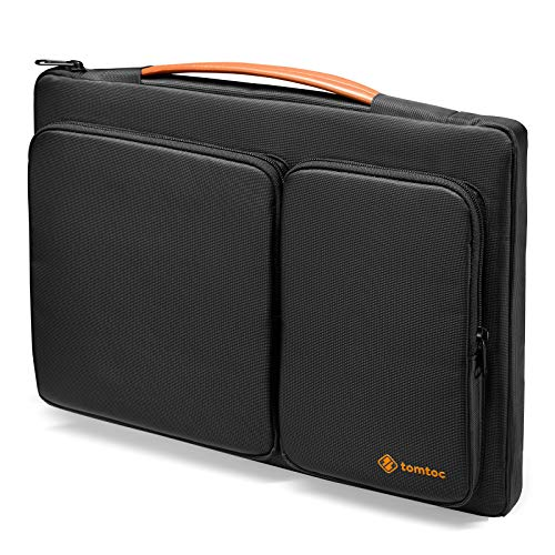 tomtoc Maletín Portátil Protectora para 2020 Dell XPS 15, 15' MacBook Pro con Touch Bar (A1990 A1707), ThinkPad X1 Yoga (1.ª-4.ª Gen), 14 HP Dell Acer Chromebook, Surface Laptop 3, Funda Antigolpes