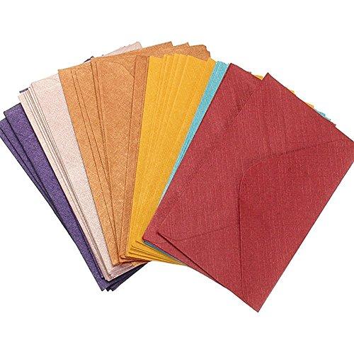 Mini Briefumschläge 60 Stück kleine Umschläge Multifarbe für Geschenkkarte Hochzeit, Geschenkkarten, Geburtstagsparty