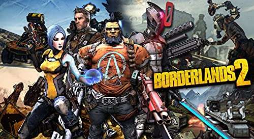 JUNLIZHU Borderlands The Handsome Collection (64cm x 35cm | 26inch x 14inch) Silk Print Poster Silk Printing / 2D5F58