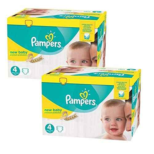 Couches Pampers - Taille 4 new baby premium protection - 288 couches bébé