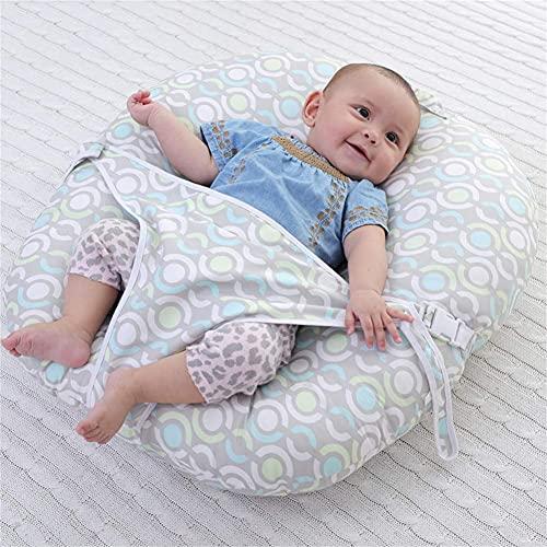 erddcbb Cojín del Piso del bebé del algodón, Tumbona Redonda para recién Nacidos con Lazos, Cojines Suaves del Relleno del Tatami