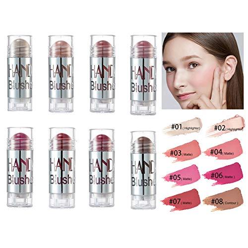 Blush Powder Rouge Matte Blusher Cremestift Brighten Marbled Blush für perfektes Glühen Nude Naked Makeup Wasserdicht Langlebig Mehrfarbig