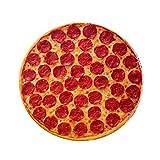 Coseyil Sitzkissen Stuhlkissen Rund Simulierte Pizza Weich und Bequem 35 cm Durchmesser, 3.5 cm...