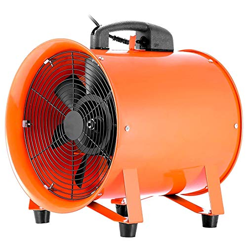 VEVOR Extractor Ventilador Industrial Portátil 520W Ventilador Profesional para Construcción 12 Pulgadas 300 mm Ventilador de Piso Industrial Ventilador Industrial con2m Cable Alambre Eléctrico