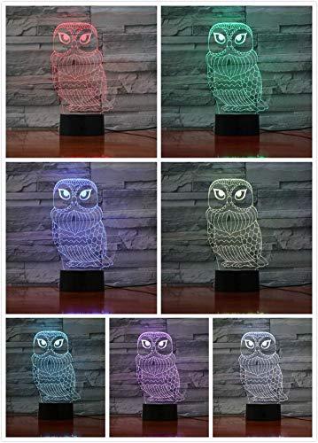 Eule Tischlampe Schlafzimmer 3D Illusion Dekoration Lampe Vogel Lampe Kind Kinder Geschenk Baby Nachtlicht Nighthawk Nachtlicht Led Minerva