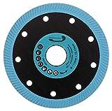 PRODIAMANT Disco de corte de diamante Color Flash, 115 mm x 22,23 mm, para azulejos y gres porcelánico, color azul
