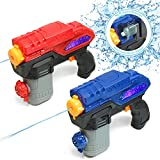 ArmoGear Electric Water Gun | 2 Pack Battery Operated Super Water Pistol Soaker 20 Ft Shooting Range | Automatic Squirt Guns for Kids & Adults | Summer Water Toy for Kids Ages 8 +