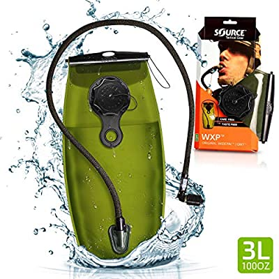 SOURCE Tactical WXP 2L Widepac Bladder with External Fill Port for Hydration Packs - High-Flow Storm Drinking Valve - Leakproof Widepac Closure - Zero Taste and Virtually Self-Cleaning - 70oz, Black