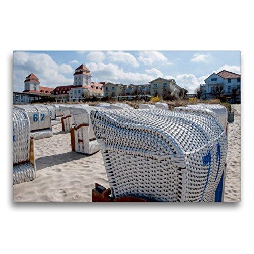 CALVENDO Premium Textil-Leinwand 75 x 50 cm Quer-Format Das Kur- und Grandhotel von Binz, Leinwanddruck von Ingo Gerlach