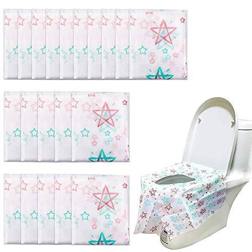 Homgaty Toilette Auflage,20 Stück Einweg Toiletten Sitzbezug Übergroßer XL WC-Sitz Matte Toilettenpapier Pad für Einkaufszentren, Krankenhaus, Büro, Restaurants,Einzeln Verpackt
