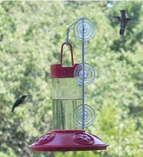Songbird Essentials SE6002W All Red Dr. JB's 16 oz Hummingbird Feeder with SE077 Hanger (Set of 1)