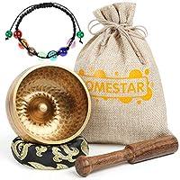 DOMESTAR Tibetan Singing Bowl Set, 3 Inch Sound Bowl Meditation Bowl