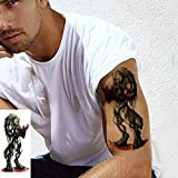 Handaxian 5pcs Tatuaje Dama Masculina Chica Animales Etiqueta engomada del Tatuaje del Perro del Gato del niño 5pcs 8