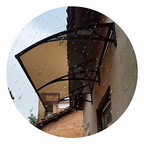 LIANGLIANG Vordach Haustür Überdachung, Schatten Beleuchtung Schalldicht Lärmminderung Ausdauer Board, Benutzt für Garage Dach Eingang Terrasse (Color : Brown, Size : 100x60cm)