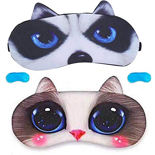 Máscara para dormir para mujeres y hombres durmiendo, suave y cómodo, mucho mejor bloqueo de luz para viajes, siesta, yoga, meditación (A)