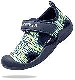 ChayChax Zapatos de Agua para Niños Sandalias con Punta Cerrada de Deportivo Secado Rápido Zapatillas de Playa Piscina Natación, Verde, 29 EU