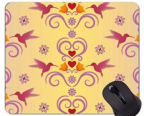 Gaming Mouse Pad Benutzerdefinierte, Kolibri Blume Frühling Gaming Mouse Pads