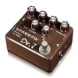 Dr.J D-53 Sparrow Bass DI XLR and Drive Guitar Effect Pedal,BROWN