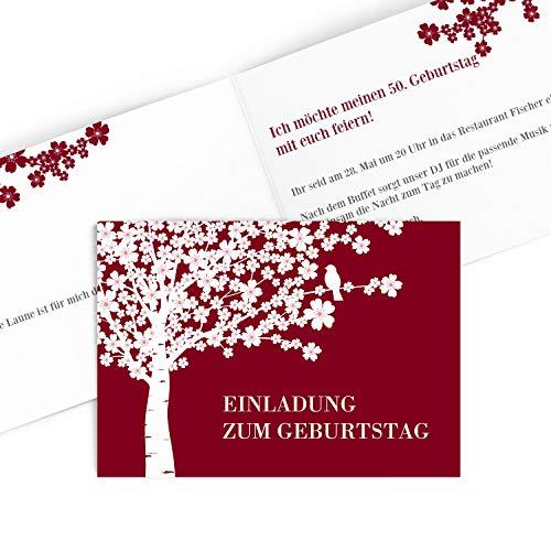 Hoogwaardige uitnodigingskaarten voor verjaardag (1-99 jaar), uitnodiging voor verjaardag met afdrukken van uw eigen teksten,