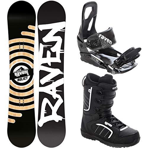 RAVEN Snowboard Set: Snowboard Relict + Bindung s200 Black + Boots Target (149cm + s200 S/M + Target 39,5)
