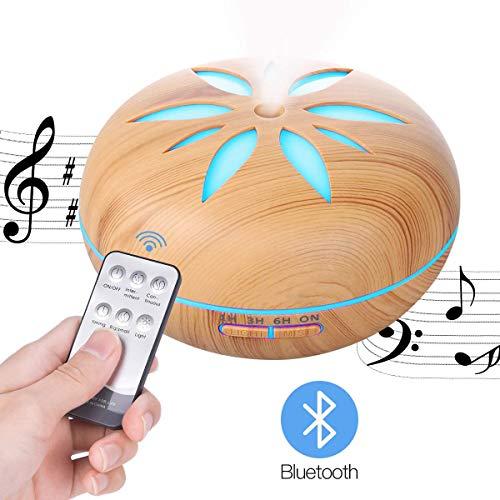 550 ml etherische olieverspreider met Bluetooth-luidspreker, geurverspreider Cool Mist-luchtbevochtigers met instelbare Mist-modus, waterloze automatische uitschakeling