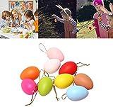 12PCS Contenitori per Uova di Pasqua in Plastica Uova di Pasqua Vuote Uova Piene di Colori per Bambini Caccia alle Uova di Pasqua E Decorazione