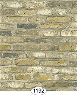 Embossed Brick Ornamental Sheet 34979 wallpaper World Model dollhouse 1//12 scale