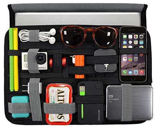 Cocoon GRID-IT WRAP - Borsa e Organizer per iPad da 10 Pollici I Custodia in Neoprene per Tablet I Sistema Organizzativo - nero / 28,5 x 3,2 x 23,5 cm