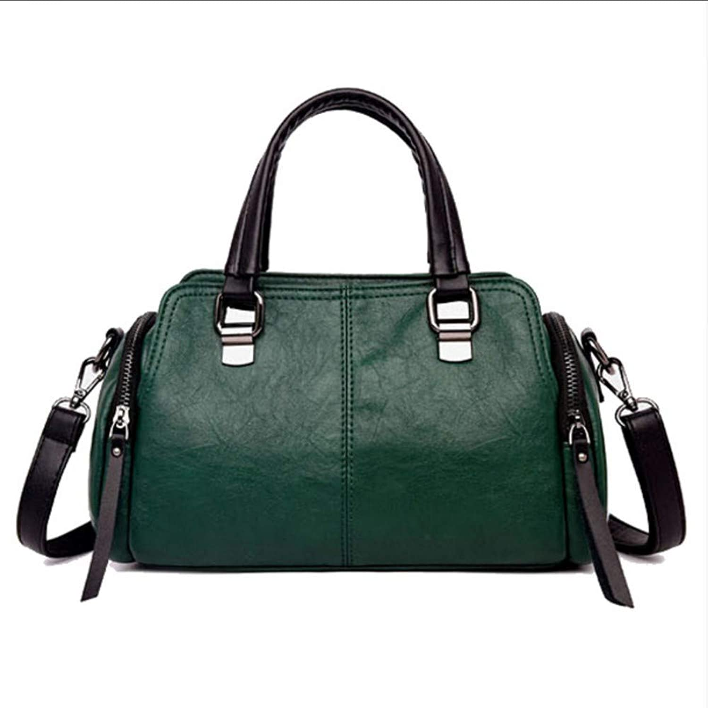 JQSM Women Leather Shoulder Bag Fashion Retro Pillow Bag Designer Boston Tote Bag Ladies Crossbody Bags Totes