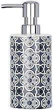 WENKO 23201100 dozownik mydła Murcia, dozownik mydła w płynie, pojemność 0,36 l, ceramika, 8,5 x 18 x 7 cm, niebieski