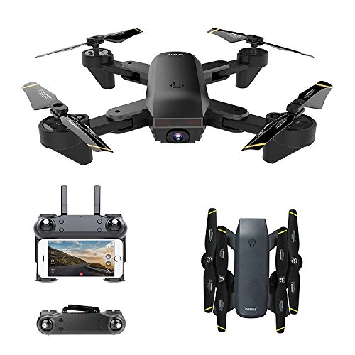 Big Bargains Online Version DM107S WiFi FPV Drone with HD Camera Foldable rc Quadcopter with Optical Flow Positioning Follow me Mode PK XS809W