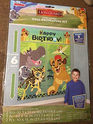 amscan Disney The Lion Guard Scene Setters Wall Decorating Kit, Birthday