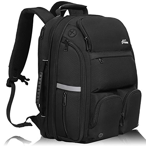 Business reis-rugzak dames heren - Carry on reisrugzak handbagage vliegtuig, 15,6 inch laptoptas laptop rugzak met USB waterdichte daypack dagrugzak voor werk reizen, 35L/40L-zwart