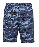 Rothco P/C BDU Shorts, Sky Blue Digital Camo, Large