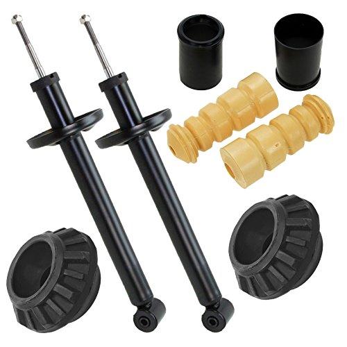 2x Öldruck Stossdämpfer mit Domlager + Staubschutz-Set hinten