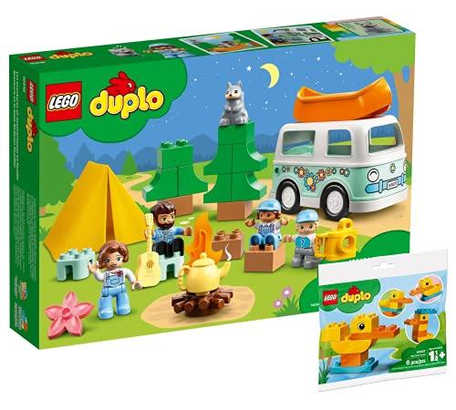 Collectix Lego Set: DUPLO Familienabenteuer mit Campingbus 10946 + DUPLO Meine erste Ente 30327 (Polybag)