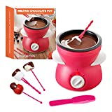 Global Gizmos 50980 Chocolate Melting Pot with Accessories | Table Top Fondue Machine | Birthday Party/Sleepover/BBQ | Dual Settings | 13cm x 13cm,