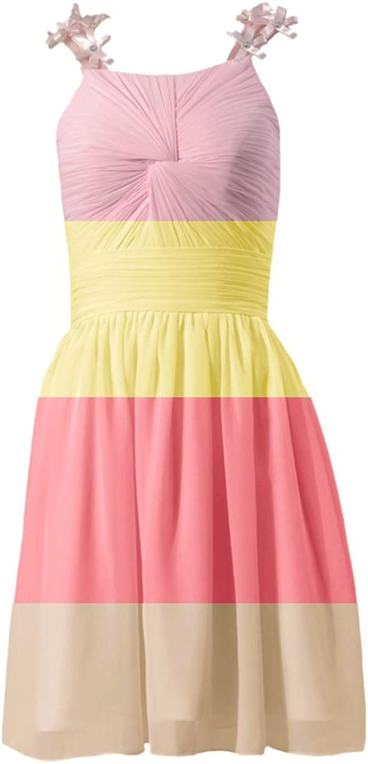 DaisyFormals reg; Short Bridesmaid Dress Junior Party Dress W Flowers(BM1437)