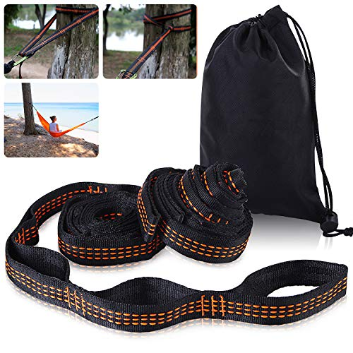 Unisun 2.8m Strong Hammock Straps adjustable with 14 Loops,Swings Hanging Straps,Camping Hiking Tree Hanging Belt Straps Perfect for Hammock Hanging Kit Straps, Holds Up to 1350 lb
