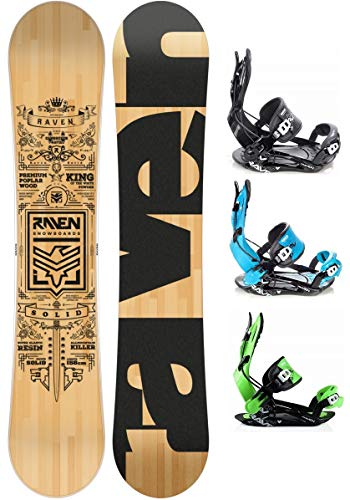 RAVEN Snowboard Set: Snowboard Solid 2020 + Bindung FT270 (162cm Wide + FT270 Black XL)