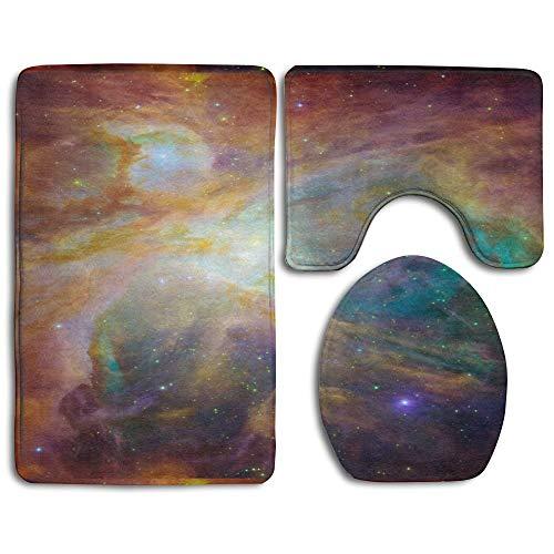 If Not Orion Nebula Hubble Fashion Badteppichmatten Set 3 Stück Anti-Rutsch-Pads Badematte + Kontur + Toilettendeckelabdeckung