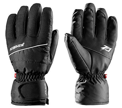 Zanier Ski-Handschuhe wasserdichte Kinder Hand-Schuhe Matrei Goretex Winter-Handschuhe Wintersport Schwarz, Größe:S