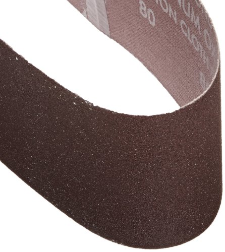 Grit P120 Very Fine Norton 07660749262 3X High Performance Portable Abrasive Belt 21 Length x 3 Width Pack of 5 Zirconia Alumina Cloth Backing
