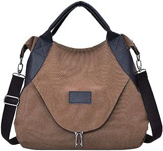 Tricherry Women Messenger Bag Canvas Zipper Handbag Travel Casual Crossbody Shoulder Bags (39 x 48 x 10cm)