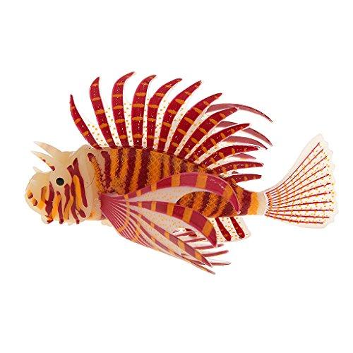 MagiDeal Bagliore Leone Pesci Acquario Snailfish Artificiale in Silicone, Serbatoio di Pesca Arredamento - Arancione, S