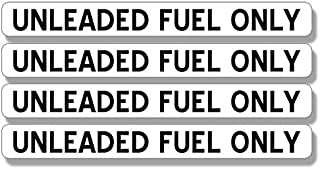 American Vinyl 4 Pack: UNLEADED Fuel Only Stickers (Gas Gasoline use Vehicle)